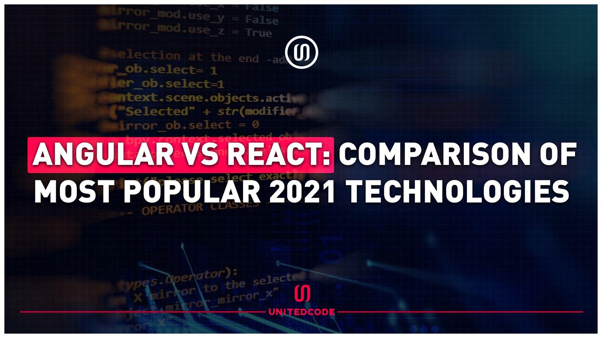Angular vs React: Comparison of Most Popular 2021 Technologies